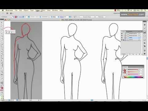 """How to Use Adobe Illustrator's Pen Tool to Draw a Fashion Sketch. There are several more videos in the series on the youtube channel """"About Illustrator for Fashion Design"""""""