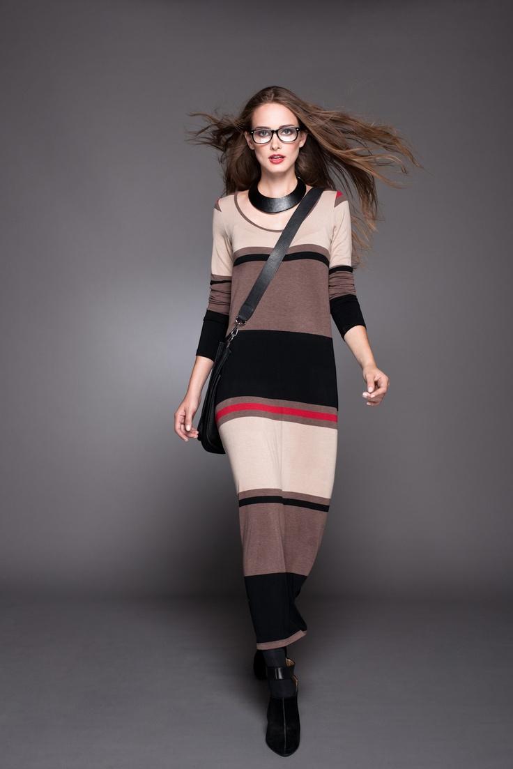 Mira este lindo vestido para esos días que prefieres estar más cómoda #Vestido #Lineatre #Moda