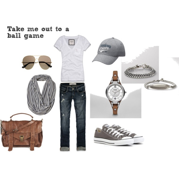 take me out to a ball game.cute for all the sporting events we go to! Love the scarf idea