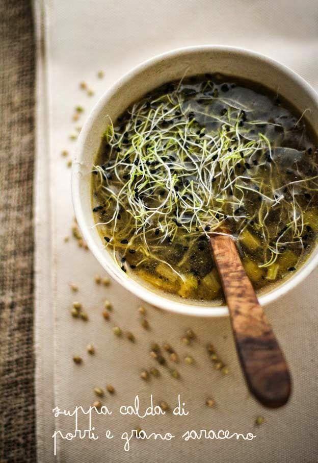 - VANIGLIA - storie di cucina: Zuppa calda di grano saraceno e porri