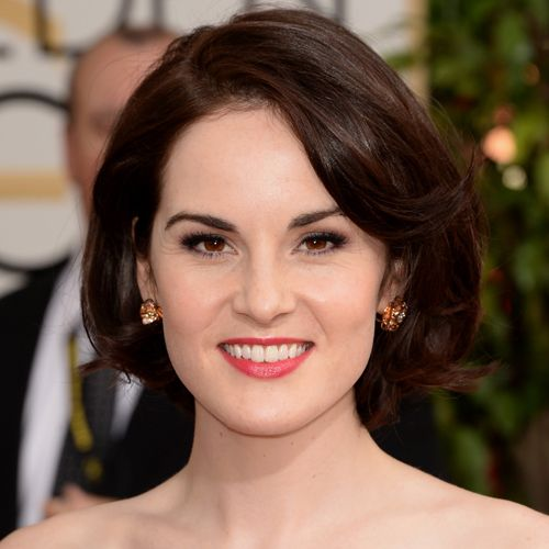 Michelle Dockery went for classic beauty on the Golden Globes red carpet