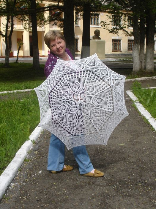 Best 59 Crocheted Parasols Images On Pinterest Diy And