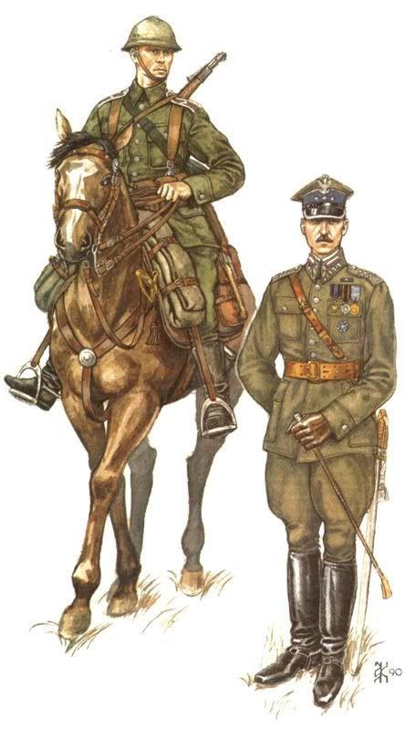 Cavalryman and officer of the Polish 18th Uhlan Regiment