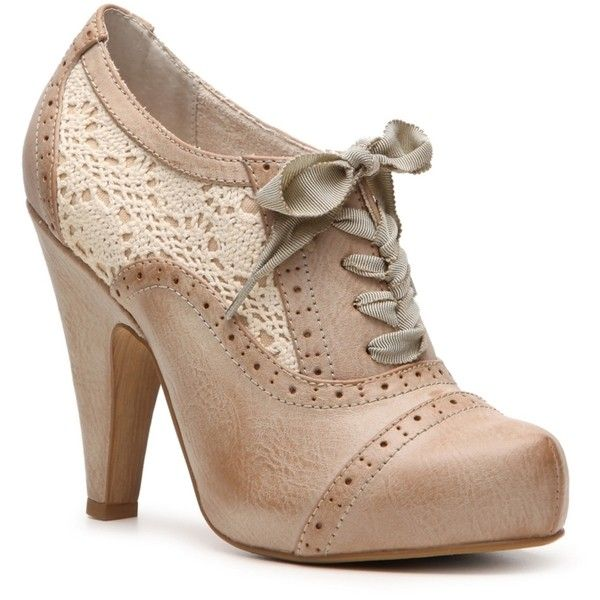 Not Rated Aries Oxford Pump ($45) found on Polyvore  I think I could pull these off as wedding shoes.