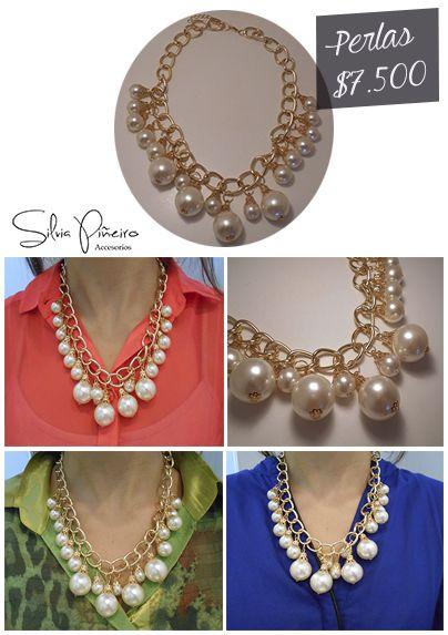 Toda mujer debe tener perlas en su closet, ¡punto! 50cm de largo.