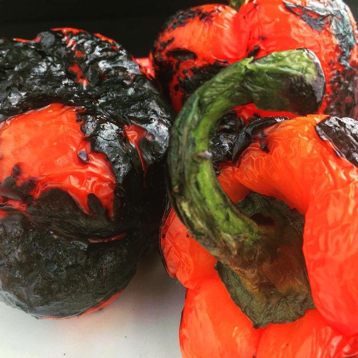 Charred capsicum ready for peeling - super food #superfood #realfood #capsicum