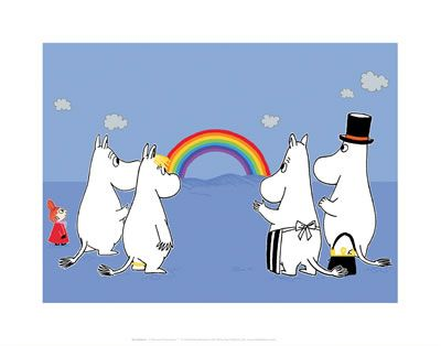 Moomin Rainbow by Tove Jansson | on StarEditions.com - Wholesale Prints and Gifts