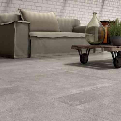 carrelage extérieur de sol de terrasse en gris Unika par Abk Industrie Ceramiche