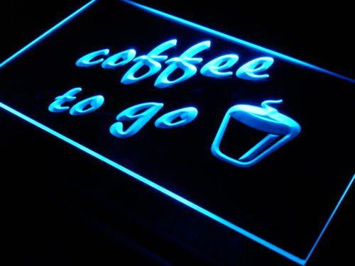 Coffee to Go Shop Bar Pub Neon Light Sign