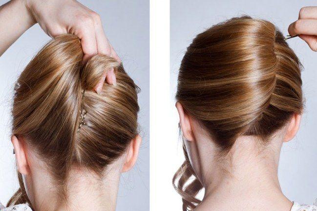 Glamour Style Hochsteckfrisur Banane Selber Machen Hochsteckfrisur Frisuren Und Frisur Hochgesteckt
