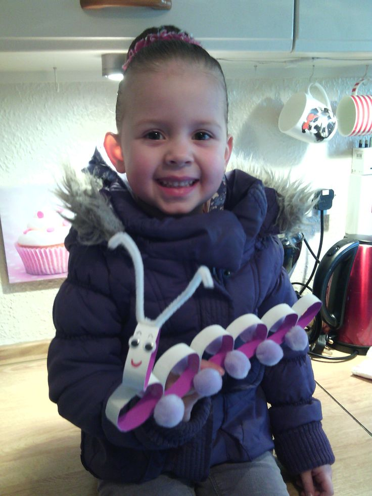 We made a caterpillar with toillet roll! Fabulous activity!