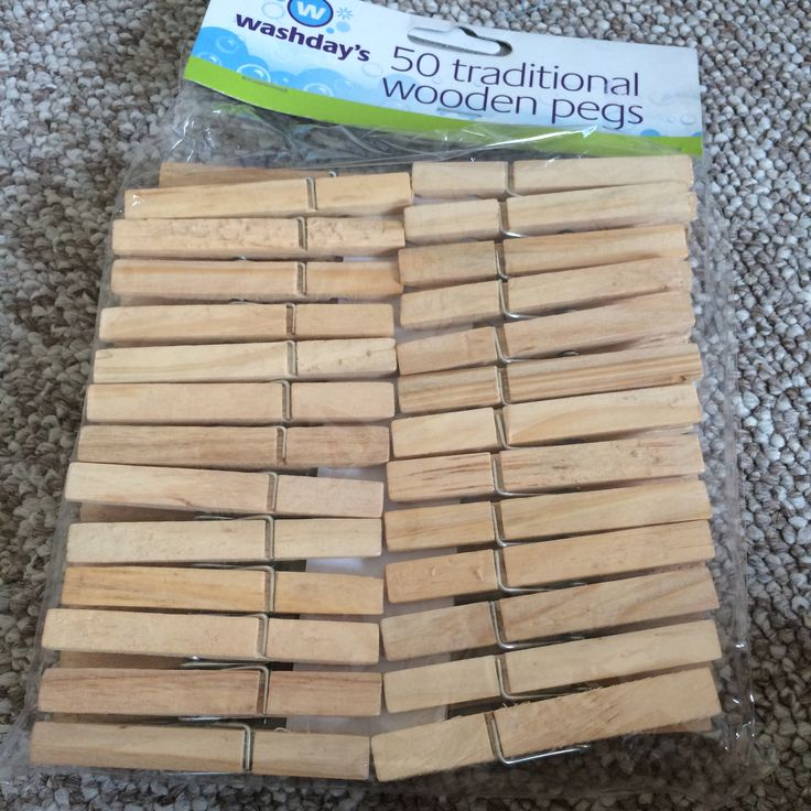 16/5/16 I also bought these pegs but I think they are too big so I will us the mini pegs instead.