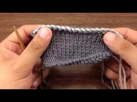 How to Knit Elizabeth Zimmerman's Sewn Bind Off - YouTube