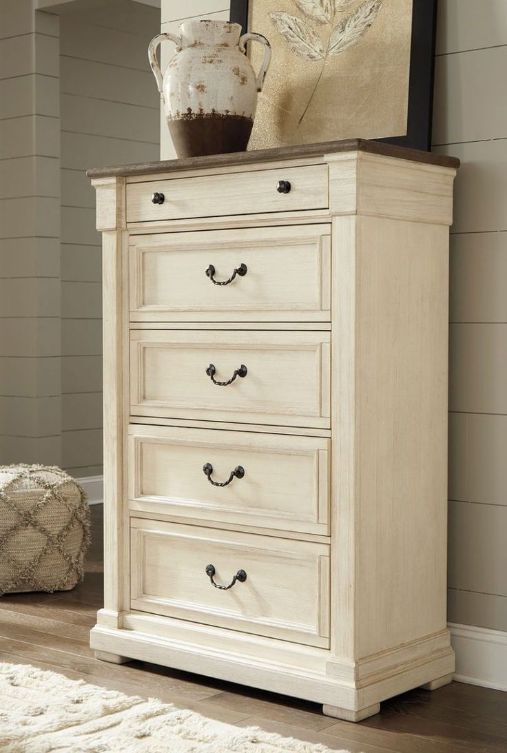 Bolanburg Twotone Five Drawer Chest in 2020 Painted