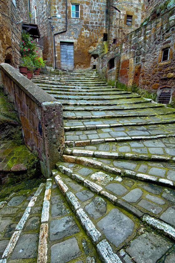 Streets of Pitigliano. Tuscany, ItalyTravel Photos, Pitigliano, Ancient Stairs, Tuscany Italy, Architecture, Places, Stairways, Igor Menak, Italy