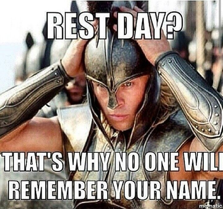 Gym humor....rest day