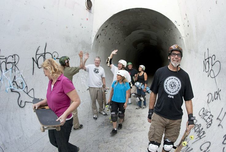 """middle-aged skateboarders defy family skeptics, and falls: folks in their 50s are shredding old-school, even pulling rad moves, as a growing number of grayhairs take up skateboards,"" barbara odanaka, latimes: i really enjoy seeing not only older men but also older women get (back) on skateboards.  they acknowledge that it's good exercise.  what's your excuse?"