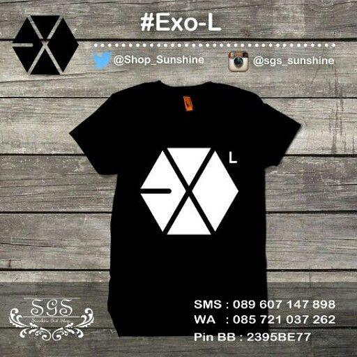 Kaos EXO L - Hitam