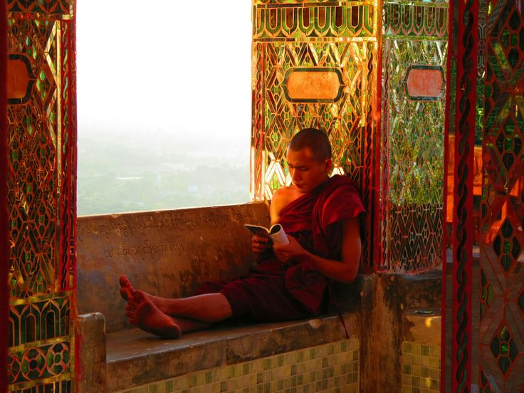 Monk at Mandalay Hill, Myanmar