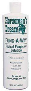 Fung-A-Way Topical Spray (16 oz) by Fung-A-Way. $6.99. Fast-acting solution for treating summer and girth itches as well as ringworm and other fungal problems.. Topical application should result in an apparent improvement in days.. Contains .15% benzalkonium chloride, carbamide and allantois.. Aids in the treatment of horses, dogs and cats.. Fast-acting solution for treating summer and girth itches as well as ringworm and other fungal problems. Topical application ...