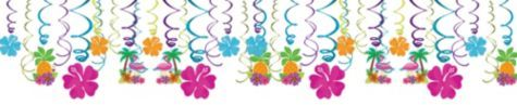 Tropical Tiki Swirl Decorations 30ct - Party City
