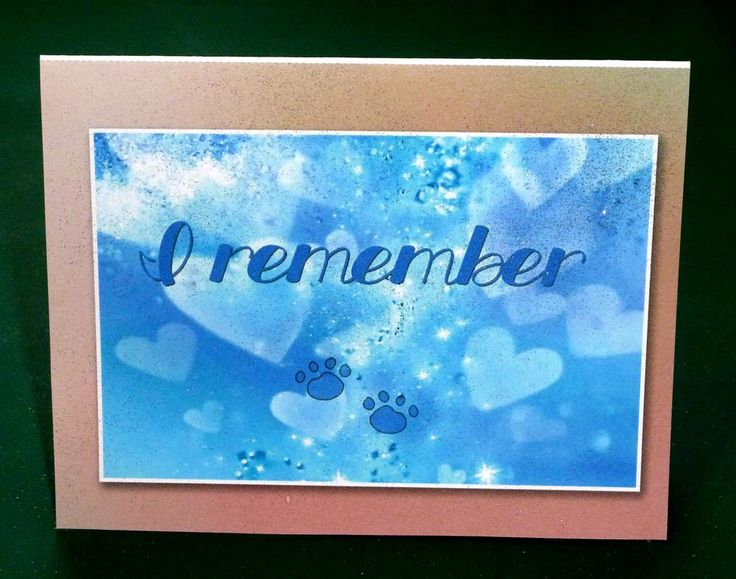 I Remember - Female Pet Sympathy Card by SouthamptonCreations on Etsy