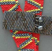 """Drum Band"" Bracelets Pattern by Judith Bertoglio-Giffin at Bead-Patterns.com"
