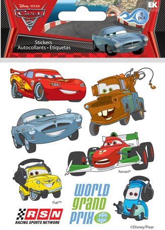 EK Success - Disney Collection - 3 Dimensional Puffy Stickers - Cars ...