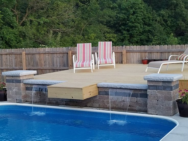In ground pool jump platform/deck