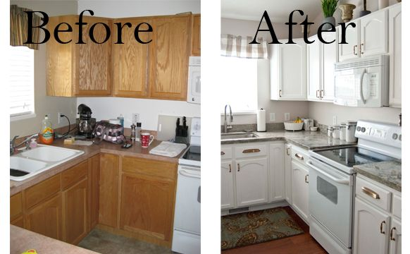 diy white kitchen remodel on a budget | Few of My Favorite Things: Living Room & Kitchen Before & After!!!