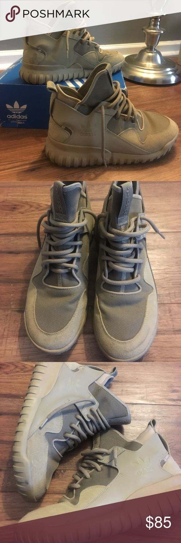 MENS ADIDAS SNEAKERS/BOOTS🌟 MENS ADIDAS TUBULAR X SNEAKERS/BOOTS🌟Worn only once! Excellent condition size 9.5. Retail $160 online Adidas Shoes Sneakers