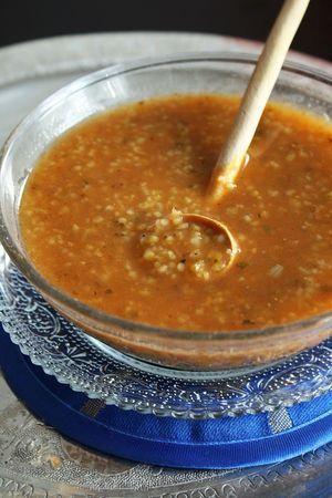 Chorba Frik, soupe Algérienne au blé vert concassé et recettes de Ramadan