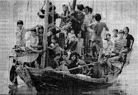 1976 - first Vietnamese boat people arrive.