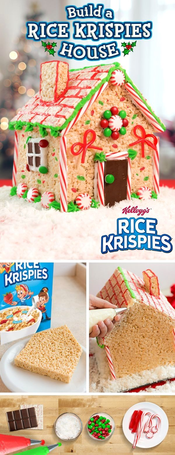 Create the sweetest house on the block this #holidayseason  with Rice Krispies! This fun, easy-to-make recipe requires little prep time, which means you and your kids will have more time for fun!
