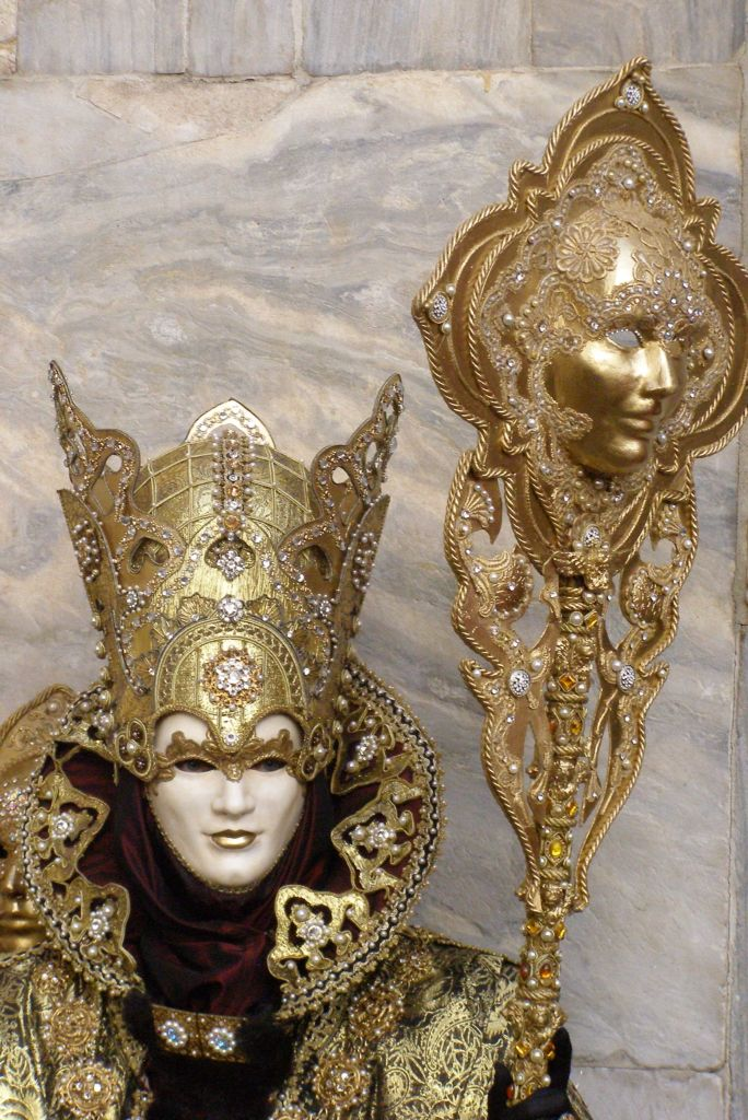 The King and his sceptre.  Venice Carnival 2015 by Lesley McGibbon