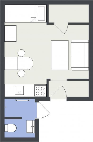 Are you a real estate professional? List your next property with a professional floor plan!  http://www.roomsketcher.com/floorplans/   2D shaded floor plan designed in RoomSketcher   #floorplan #realestate #listings