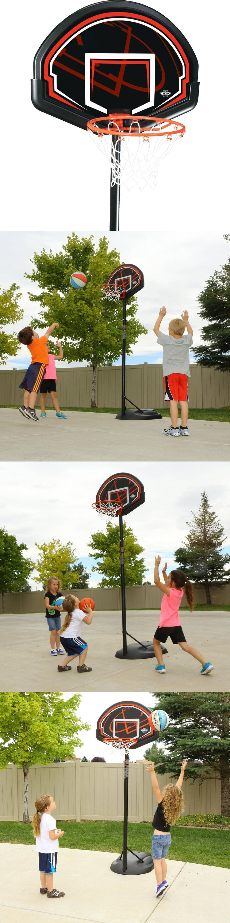 Backboard Systems 21196: Portable Basketball System Adjustable Height Indoor Outdoor Hoop BUY IT NOW ONLY: $74.94