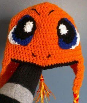 Pokemon Boys Crochet Hat Free Pattern | Pokemon - Sweet Charizard hat! | Crochet Hats | Pinterest