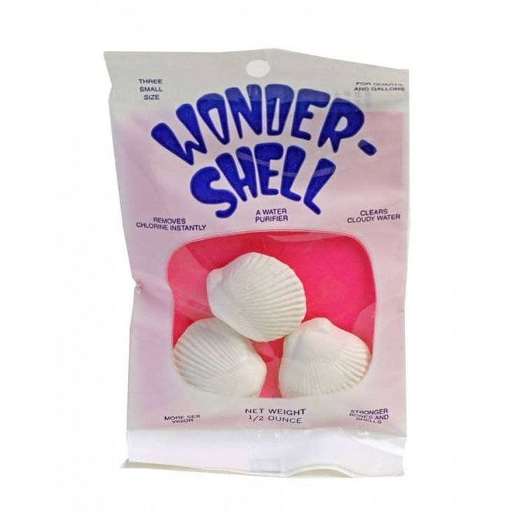 🐠 Small Weco Wonder Shell Water Purifier for fish is great for Ph control, Calcium Carbonate, and Water Hardness Control. Contains Calcium Carbonate; Sodium Thiosulfate; Major, Minor, and Trace Elements including Magnesium Sulfate.
