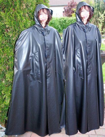 Black PVC Capes