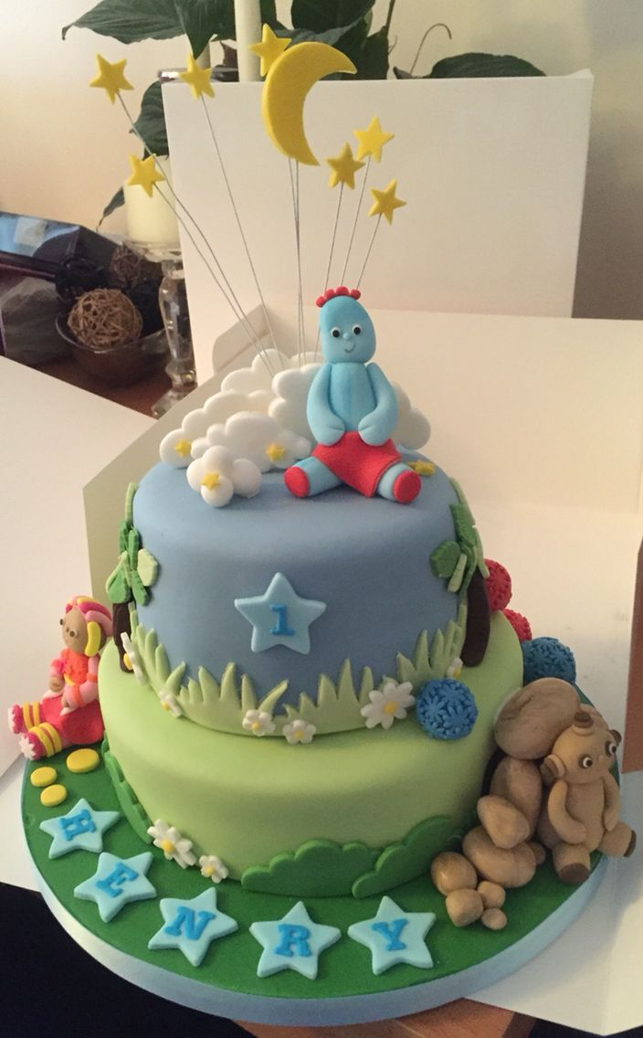 In the Night Garden first birthday cake, so proud of this one!
