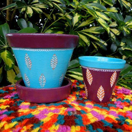 Vasinho pintado a mão www.terapip.com