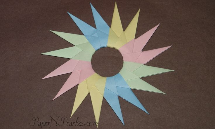 #origami 16-point star