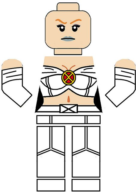 Emma Frost lego decals