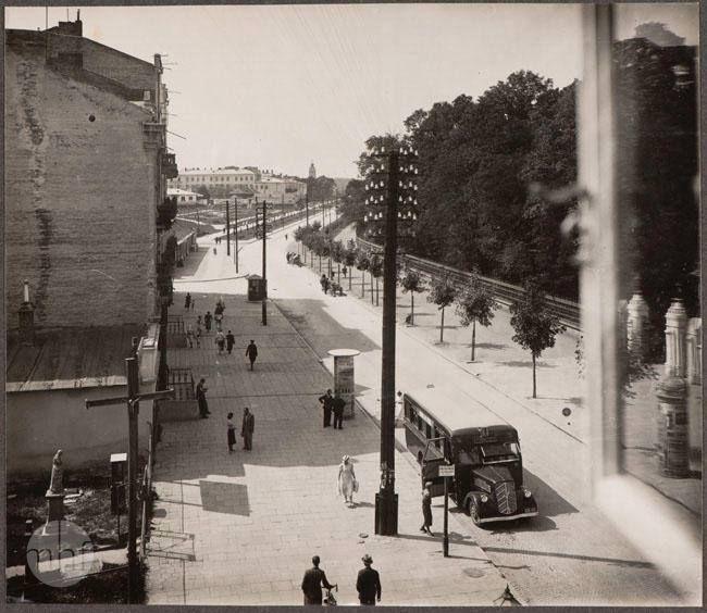 skrzyżowanie al. Racławickich i ul. Lipowej, lata 30. XX w. źródło; Muzeum Historii Fotografii w Krakowie