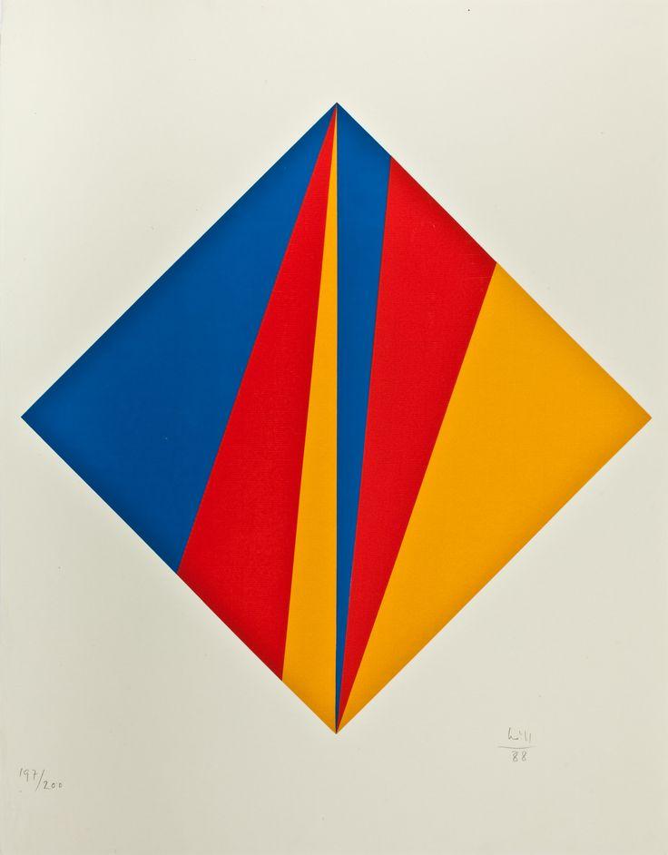 alexfotakis: Max Bill, Serigraphy, Untitled, 1988
