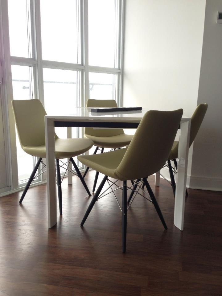 Modern green pistachio color dining chairs from furniture for B furniture toronto