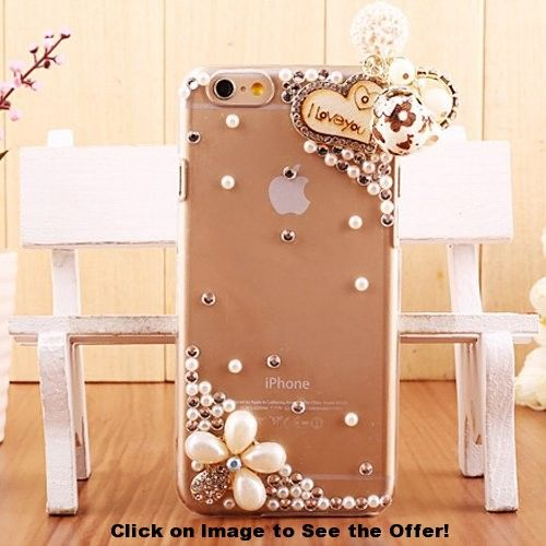 iPhone 6 Case, Hundromi(TM) Extreme Deluxe 3D handmade bling Crystal Rhinestone Diamond Clear Anti-Scratch back case cover for iPhone 6 4.7 inch Screen – Crystal iPhone 6 Case