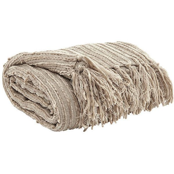 Noland Throw ($40) ❤ liked on Polyvore featuring home, bed & bath, bedding, blankets, textured throw, textured bedding, textured throw blanket and textured blankets