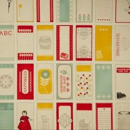 1950s inspired cotton fabric by Baby Jane - Quilting Panel for a retro inspired nursery perhaps?